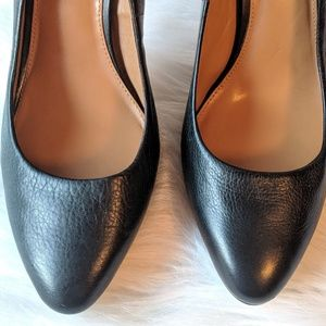 Banana Republic Shoes - Banana Republic Black Leather Kelsey Heels Size 11